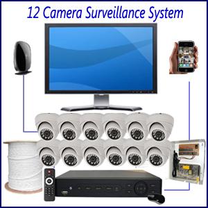 12 Camera Surveillance System Home 4 Camera Surveillance Package