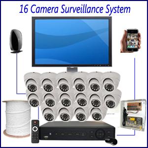 16 Camera Surveillance System Home Security Camera Installation