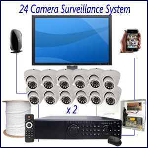 24 Camera Surveillance System Home 4 Camera Surveillance Package