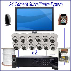 24 Camera Surveillance System Home Security Camera Installation