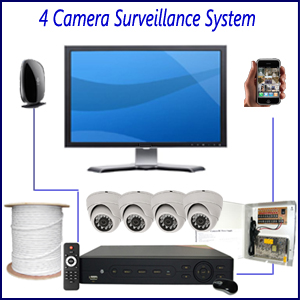4 Camera Surveillance System Home