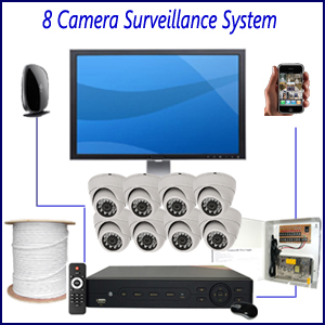 8 Camera Surveillance System Home 4 Camera Surveillance Package