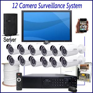 Commercial 12 Camera Surveillance System Commercial CCTV Installation