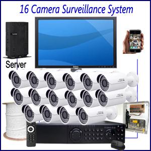 Commercial 16 Camera Surveillance System Commercial CCTV Installation