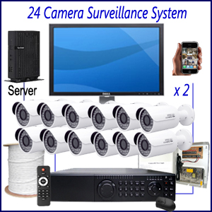 Commercial 24 Camera Surveillance System Commercial CCTV Installation