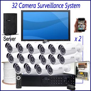 Commercial 32 Camera Surveillance System Commercial CCTV Installation