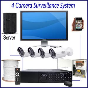 Commercial 4 Camera Surveillance System Commercial CCTV Installation