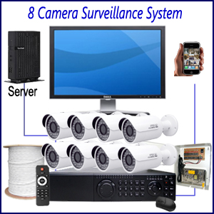 Commercial 8 Camera Surveillance System Home
