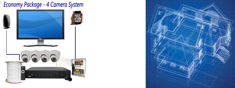 Economy Description Home 4 Camera Surveillance Package